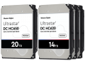 Ultrastar HC650 and HC620 drives with 20 TB and 14 TB capacity.