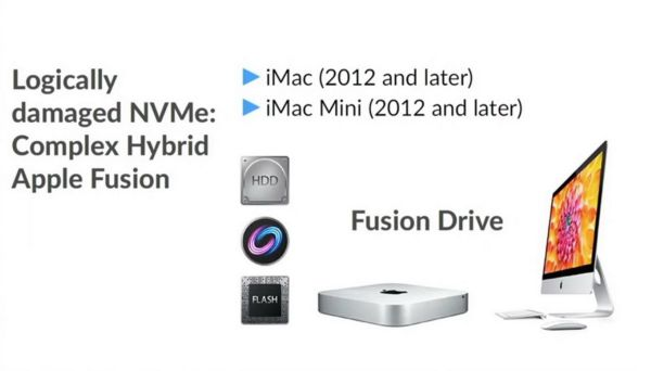 Logical damage to Apple Fusion Drive NVMe drive and data recovery from it.